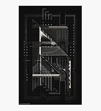 Composition of golden abstract geometry #6 Photographic Print