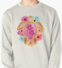 Pink Honu And Hibiscus Pullover