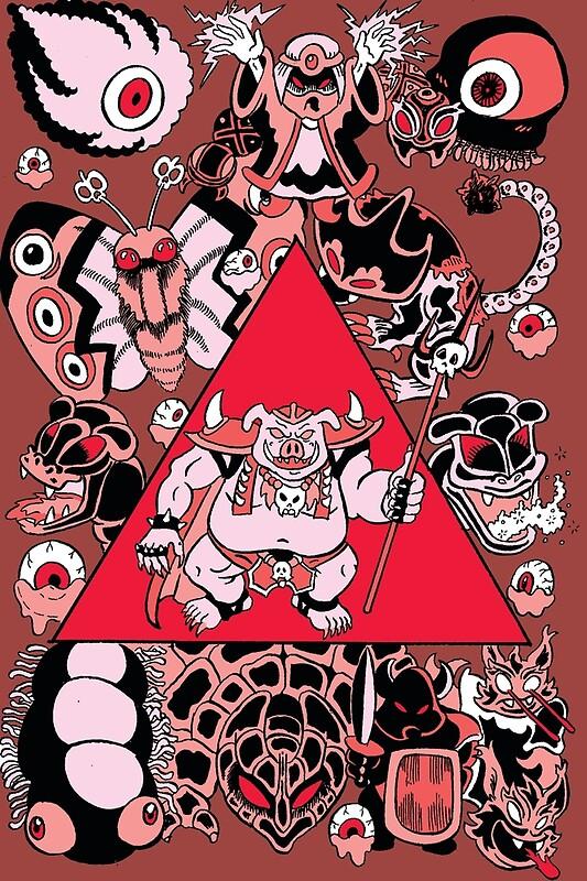 Zelda Link To The Past Ganon S Power Art Print