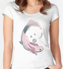 Axolotl growth Women's Fitted Scoop T-Shirt