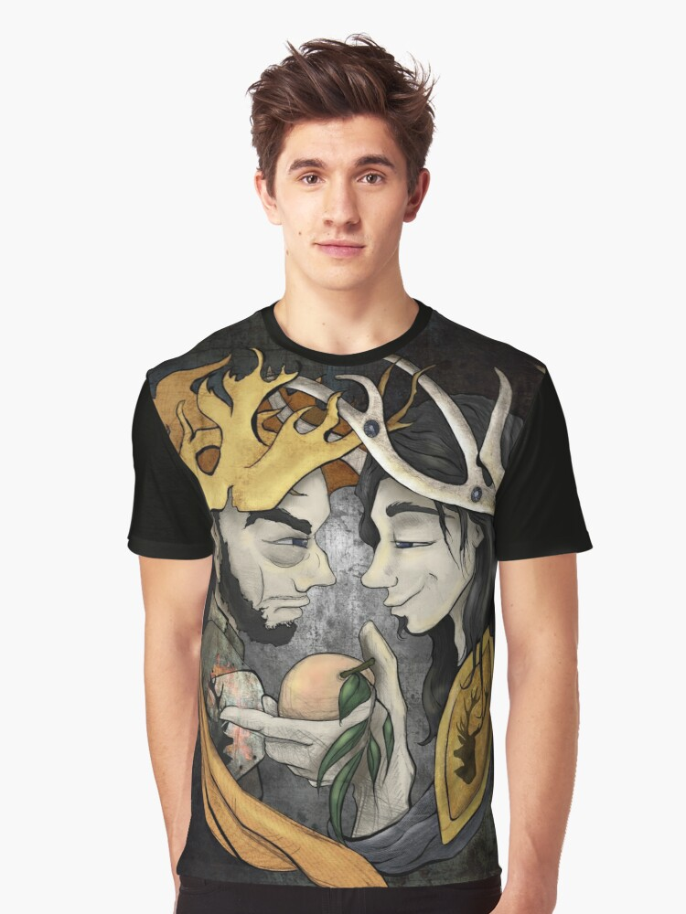 King's Peach Graphic T-Shirt Front