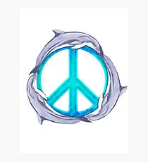 Dolphin Peace Photographic Print