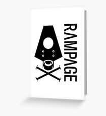 Rampage Greeting Card