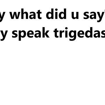 Lo sentimos lo que hizo u dicen? Sólo hablo trigedasleng de Schmelzbeth