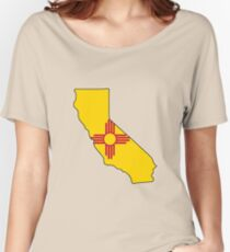New Mexico flag California outline Women's Relaxed Fit T-Shirt