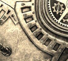 Steampunk Vintage Clockwork Heart Sticker