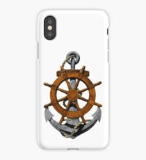 Nautical Ships Wheel And Anchor iPhone Case/Skin