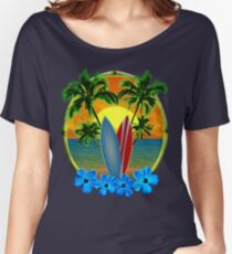 Sunset And Surfboards Women's Relaxed Fit T-Shirt