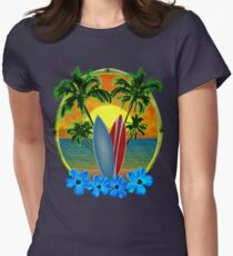 Sunset And Surfboards Women's Fitted T-Shirt