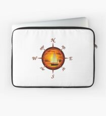 Sailboat And Compass Laptop Sleeve