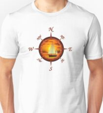 Sailboat And Compass Unisex T-Shirt