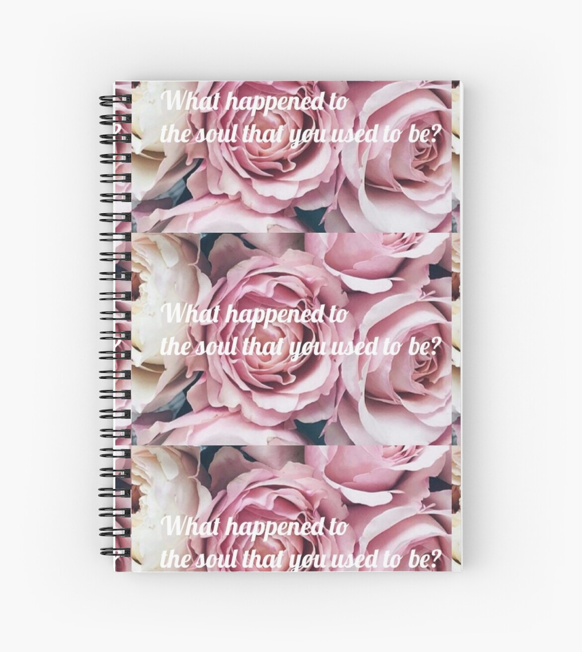 Flower design with halsey lyrics spiral notebooks by linaa s flower design with halsey lyrics by linaa s mightylinksfo