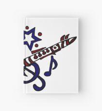 Cuaderno de tapa dura Cool Fun Clarinet Tribal Art Style Original