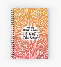 Bridges Burned – Fiery Palette Spiral Notebook