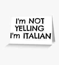 Funny Italy Europe Nationality Italian Joke T-Shirts Greeting Card