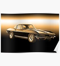 1965 Corvette Stingray Coupe Poster