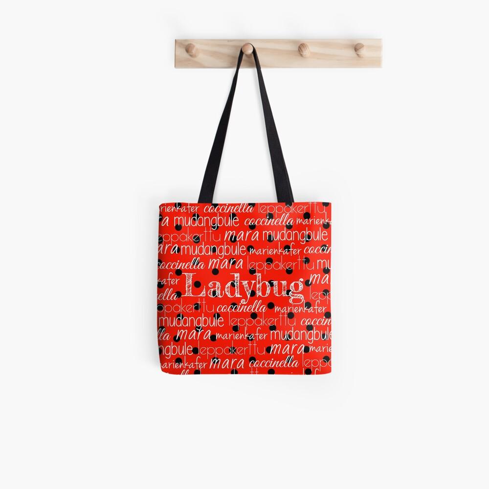 Marienkäfer-Druck-Typografie Tote Bag