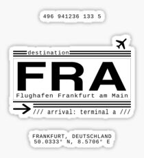 Frankfurt Stickers Redbubble