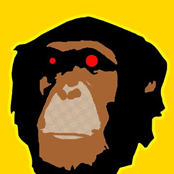 Zombied Chimp by 45thAveArtCo
