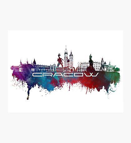 Cracow skyline city blue Photographic Print