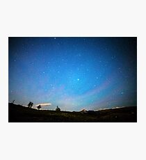 Rocky Mountains Starry Night Photographic Print