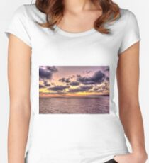 Sunrise in the Aegean Women's Fitted Scoop T-Shirt