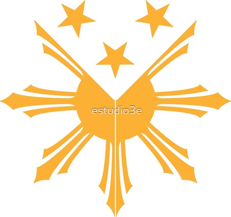 Pinoy Sun and Stars Filipino cote of arms design\