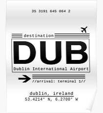 Póster DUB Dublin International Airport