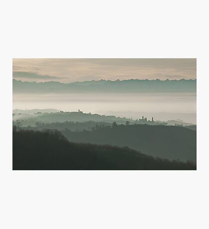Landscape in Piemonte Photographic Print