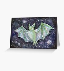 Space Bat  Greeting Card