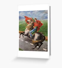 Napolen Dynamite Crossing the Street Greeting Card