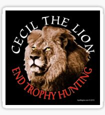 Cecil The Lion Sticker