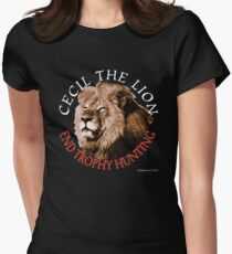 Cecil The Lion Women's Fitted T-Shirt