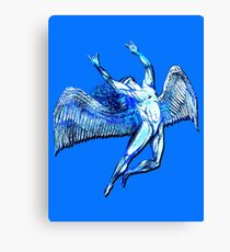 ICARUS THROWS THE HORNS - bright blue ***FAV ICARUS GONE? SEE BELOW*** Canvas Print