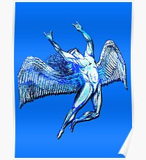 ICARUS THROWS THE HORNS - bright blue ***FAV ICARUS GONE? SEE BELOW*** Poster