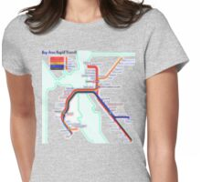 San Francisco BART Map Womens Fitted T-Shirt