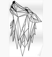 polygonal wolf  Poster