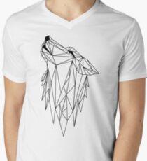 polygonal wolf  Men's V-Neck T-Shirt