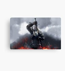 The Witcher III Work Geralt :) Canvas Print