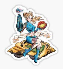 Pin Up Samus Bomber Girl Sticker