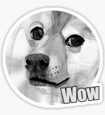 Doge wow Sticker