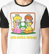 Mario Bros. Two Girls, One Up  Graphic T-Shirt
