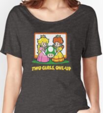 Mario Bros. Two Girls, One Up  Women's Relaxed Fit T-Shirt