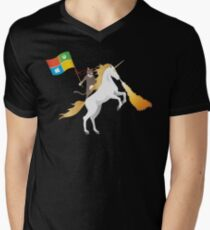 Ninja Cat Unicorn Men's V-Neck T-Shirt