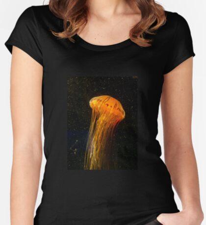 Unterwasserwelt der Sterne Tailliertes Rundhals-Shirt