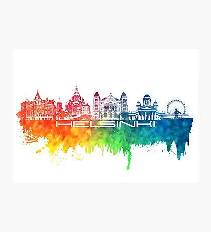 Helsinki skyline color Photographic Print