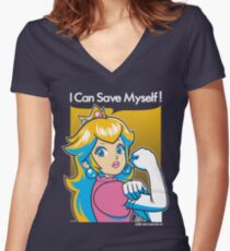 Save Myself Women's Fitted V-Neck T-Shirt