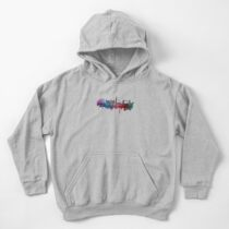 London skyline city blue  Kids Pullover Hoodie