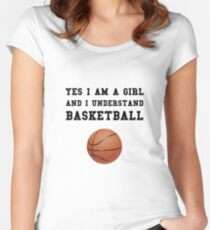 Girl Basketball Women's Fitted Scoop T-Shirt