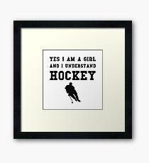 Girl Hockey Framed Print